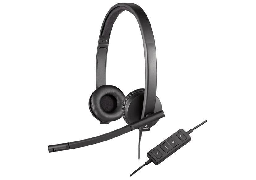 Logitech USB Headset H570e Stereo Sort
