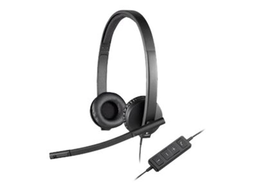 Logitech USB Headset H570e Stereo Svart
