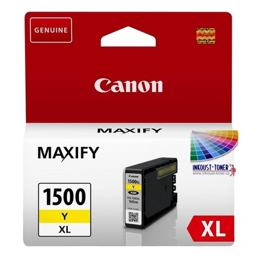 Canon Bläck Gul PGI-1500XL Y