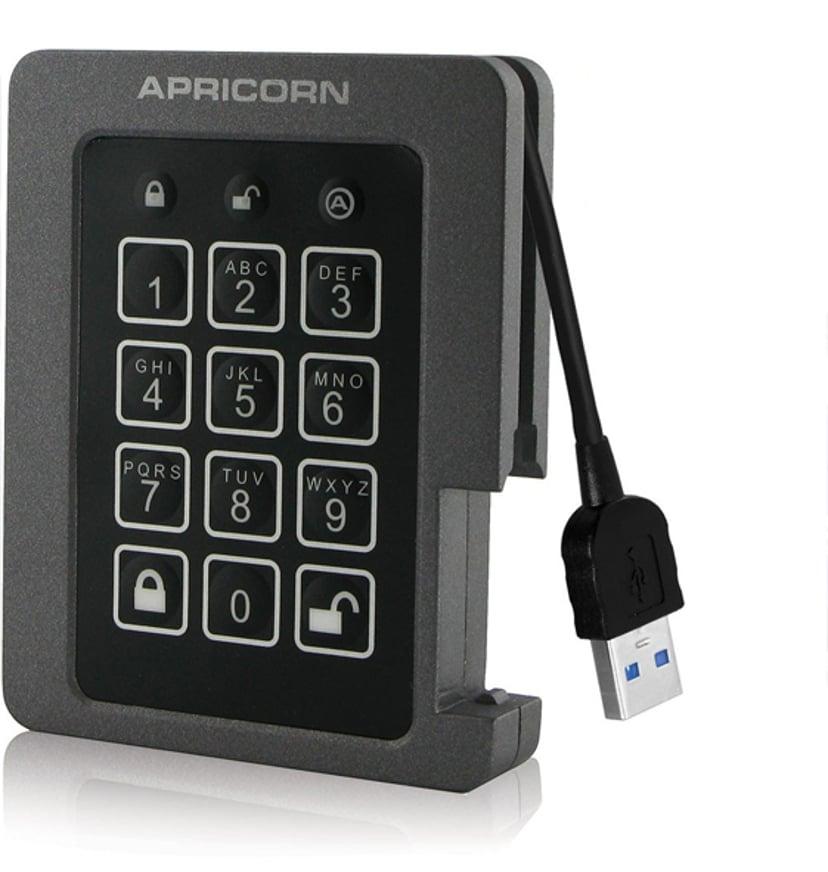 Apricorn Padlock SSD 0.12TB Grå; Svart