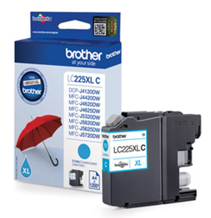 Brother Inkt Cyaan LC225XLC, 1,2K