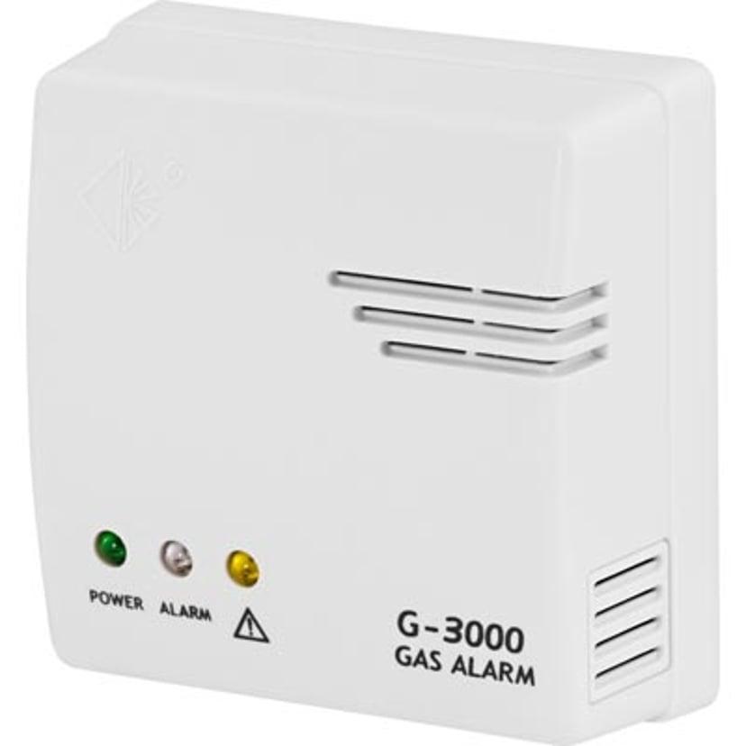 Nexa Gas Detector, Hot Wire, 12V/Cigg/230V, 85dB White