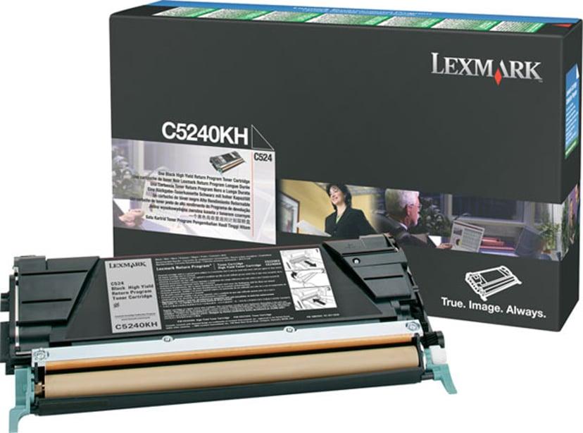 Lexmark Toner Svart 8k C524 Return