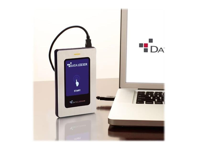 Datalocker DL3 FE  PIN- & Two Pass 256-bit AES Crypt with 2 Factor RFID 2TB Sølv