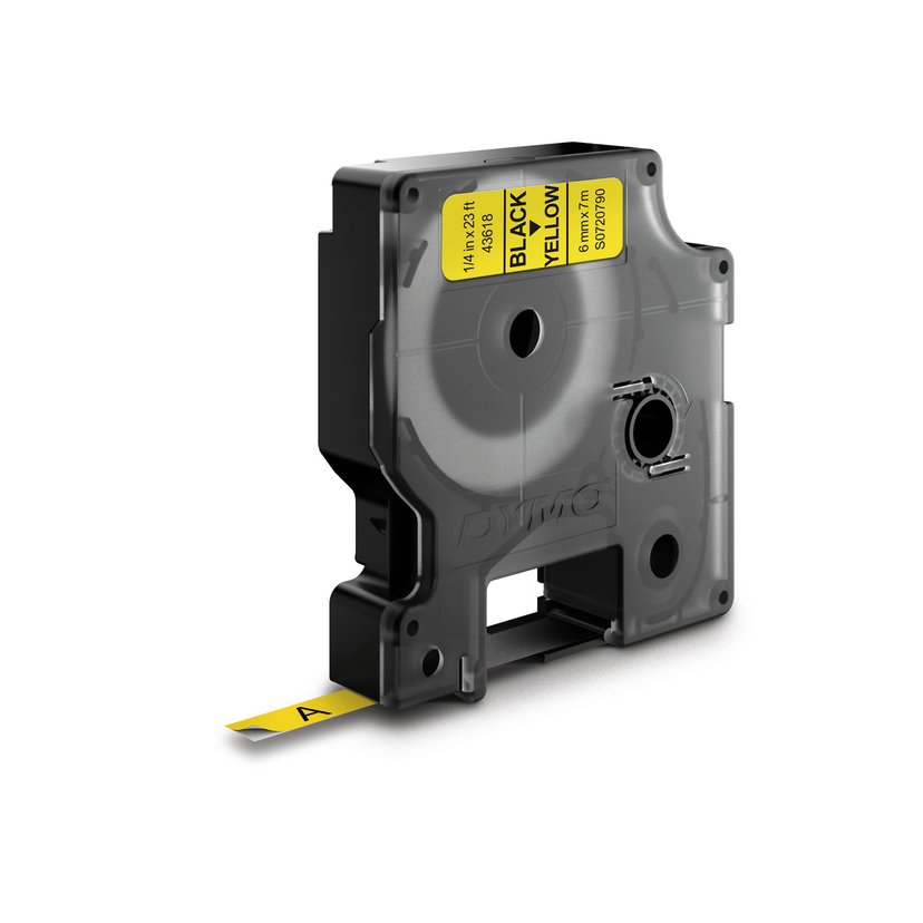 Dymo Tape D1 6mm Svart/Gul