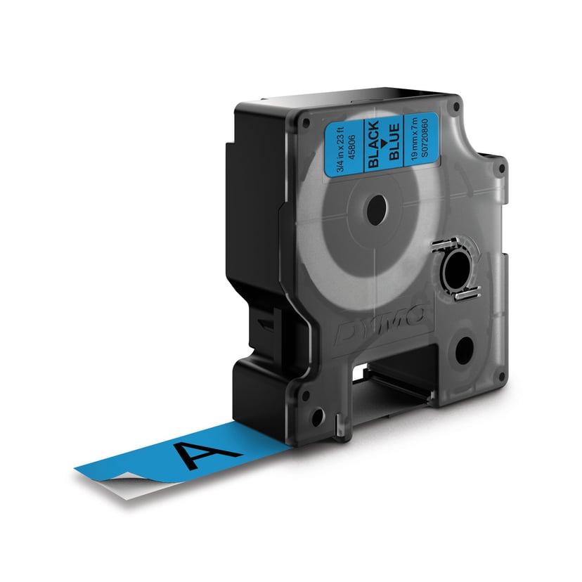 Dymo Tape D1 19mm Black/Blue Bottom