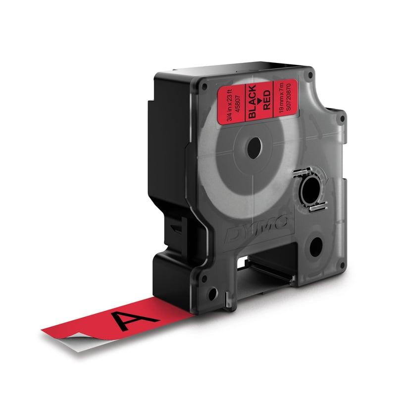 Dymo Tape D1 19mm Svart/Röd Botten