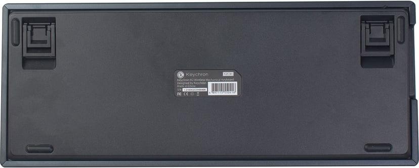 Keychron K2 RGB Aluminum Hot-Swap Blue (Version 2) Kabelansluten, Trådlös Tangentbord Nordiska länderna Nordisk Grå, Svart