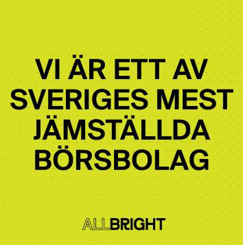 Vi är ett av Sveriges mest jämställda börsbolag