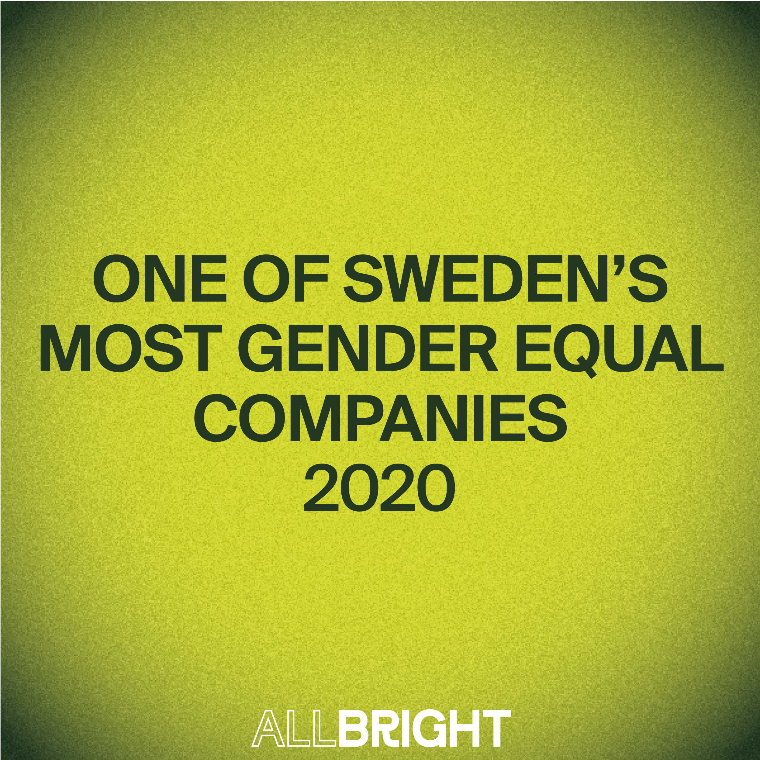 We are one of Swedens most equal companies